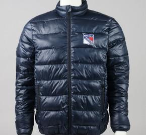 New York Rangers Large Full Zip Puffer Jacket #2