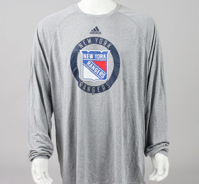 New York Rangers XX-Large Climalite Long Sleeve Shirt