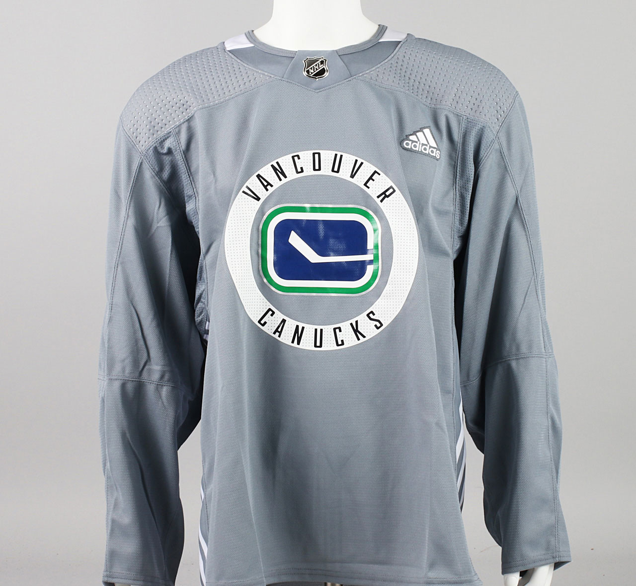 Practice Jersey - Vancouver Canucks - Gray Adidas Size 58 - Pro ...