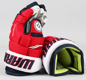 "13"" Warrior Alpha QX Gloves - Team Stock Washington Capitals #4"