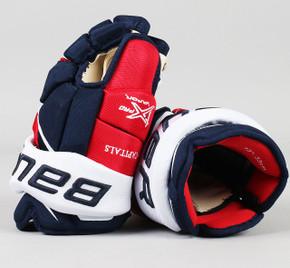 "13"" Bauer Vapor 1X Pro Gloves - Team Stock Washington Capitals"