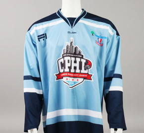 X-Large Baby Blue 2019 Chicago Pro Hockey League Jersey - James Sanchez