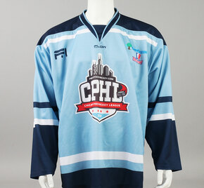 X-Large Baby Blue 2019 Chicago Pro Hockey League Jersey - Vincent Loverde
