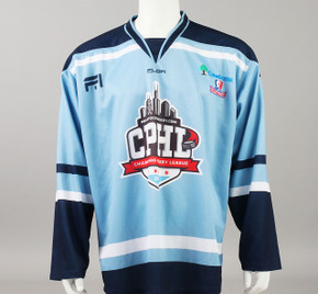X-Large Baby Blue 2019 Chicago Pro Hockey League Jersey - Zach Dubinsky