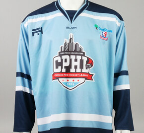 X-Large Baby Blue 2019 Chicago Pro Hockey League Jersey - Luke Sandler