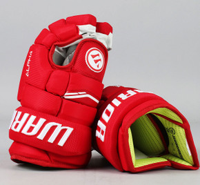"""13"""" Warrior Alpha QX Gloves - Team Stock Detroit Red Wings #4"""