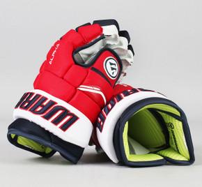"13"" Warrior Alpha QX Gloves - Team Stock Washington Capitals #5"