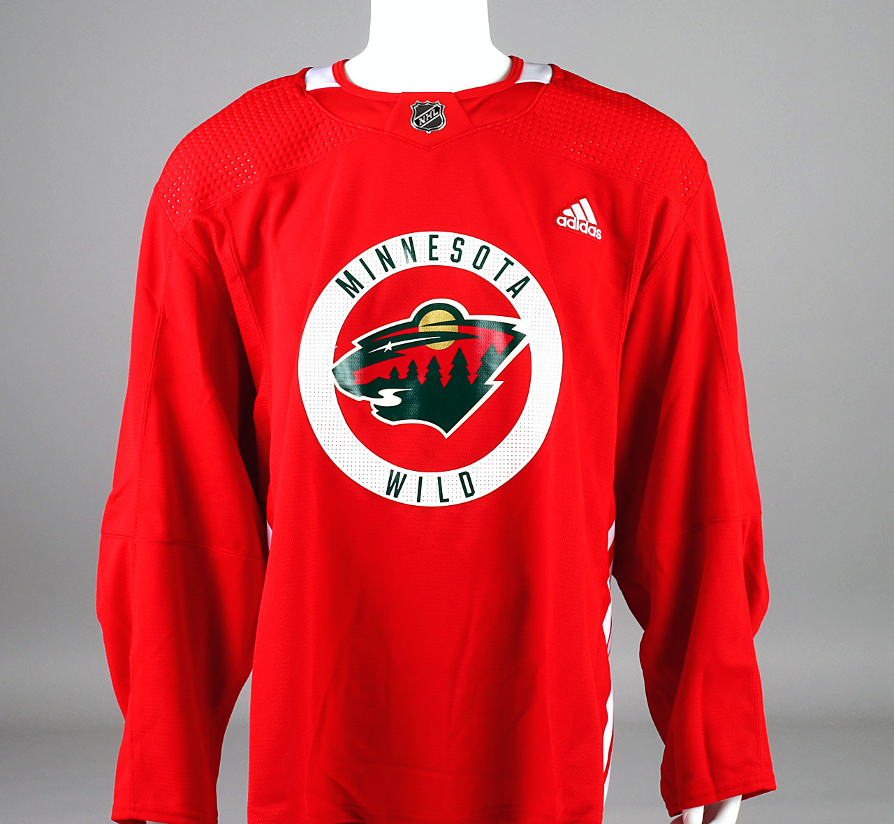 Practice Jersey - Minnesota Wild - Red Adidas Size 56 - Pro Stock ...