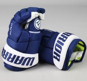 """13"""" Warrior Alpha DX Gloves - Team Stock Toronto Maple Leafs"""