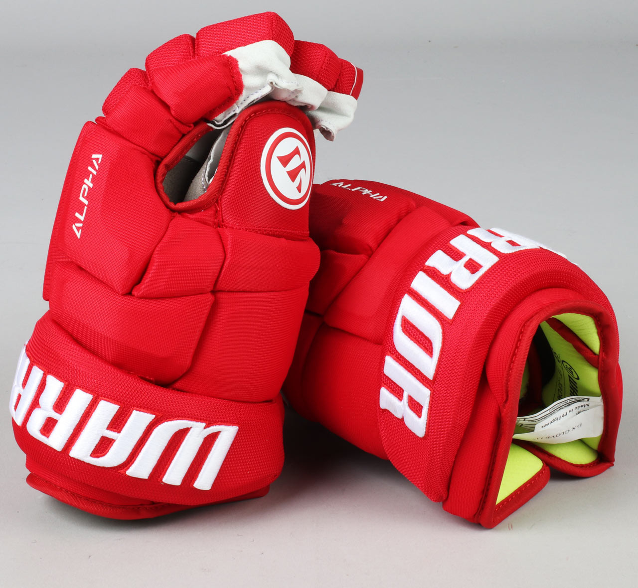 "13"" Warrior Alpha DX Gloves - Team Stock Detroit Red Wings - Pro Stock Hockey"