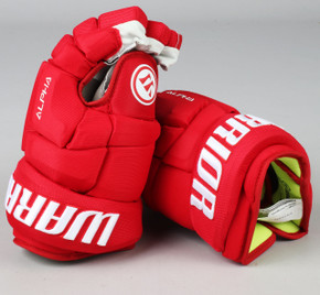 "13"" Warrior Alpha DX Gloves - Team Stock Detroit Red Wings"