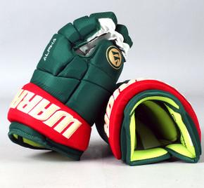 """13"""" Warrior Alpha DX Gloves - Team Stock Minnesota Wild"""
