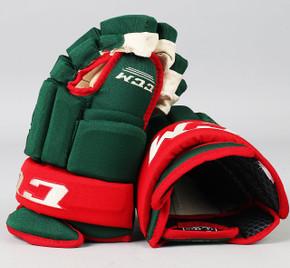 """14"""" CCM HG 96 Gloves - Team Stock Minnesota Wild #2"""
