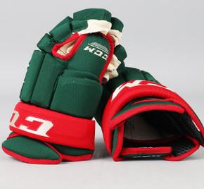 """14"""" CCM HG 96 Gloves - Team Stock Minnesota Wild"""
