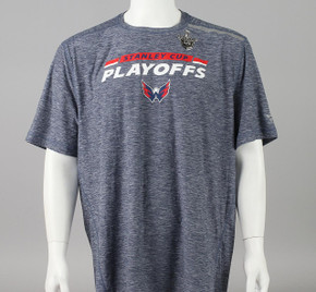 Washington Capitals Large Authentic Pro Stanley Cup Playoff T-shirt