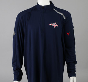 Washington Capitals Medium Authentic Pro 1/4 Zip Long Sleeve Shirt