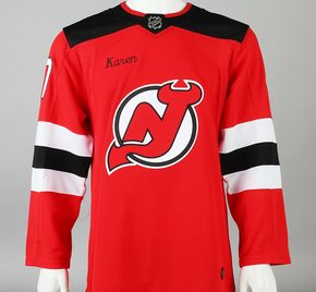 Game Jersey - New Jersey Devils - Red Adidas Size 46