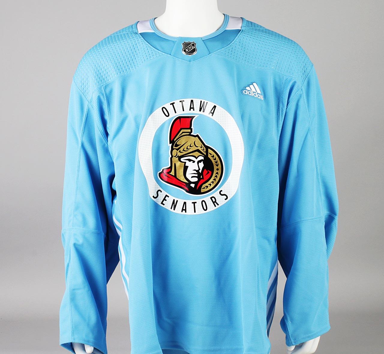 Practice Jersey - Ottawa Senators - Baby Blue Adidas Size 58 - Pro ...