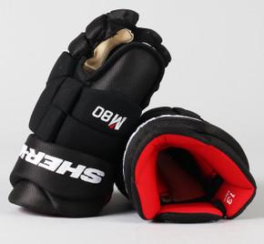 """13"""" Sher-Wood Black Rekker M80 Gloves - Team Stock"""