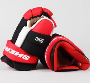 """15"""" Sher-Wood Red Rekker M90 Gloves - Team Stock"""