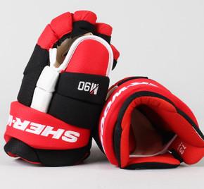 """13"""" Sher-Wood Red Rekker M90 Gloves - Team Stock"""