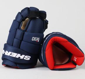 """14"""" Sher-Wood Navy Blue Rekker M90 Gloves - Team Stock"""