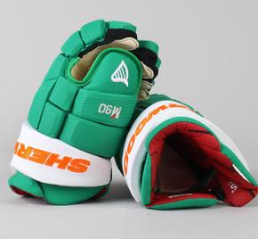 """15"""" Sher-Wood Green Rekker M90 Gloves - Team Stock"""