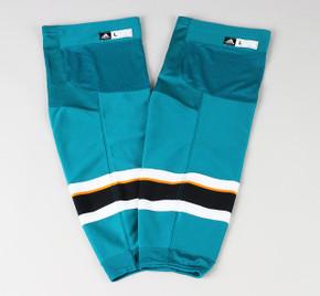 Game Sock - San Jose Sharks - Teal Adidas Size XL+