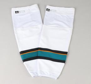 Game Sock - San Jose Sharks - White Adidas Size L