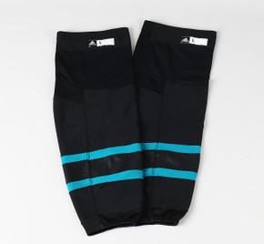 Game Sock - San Jose Sharks - Black Adidas Size XL+