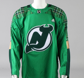 Game Jersey - New Jersey Devils - Green Adidas Size 58