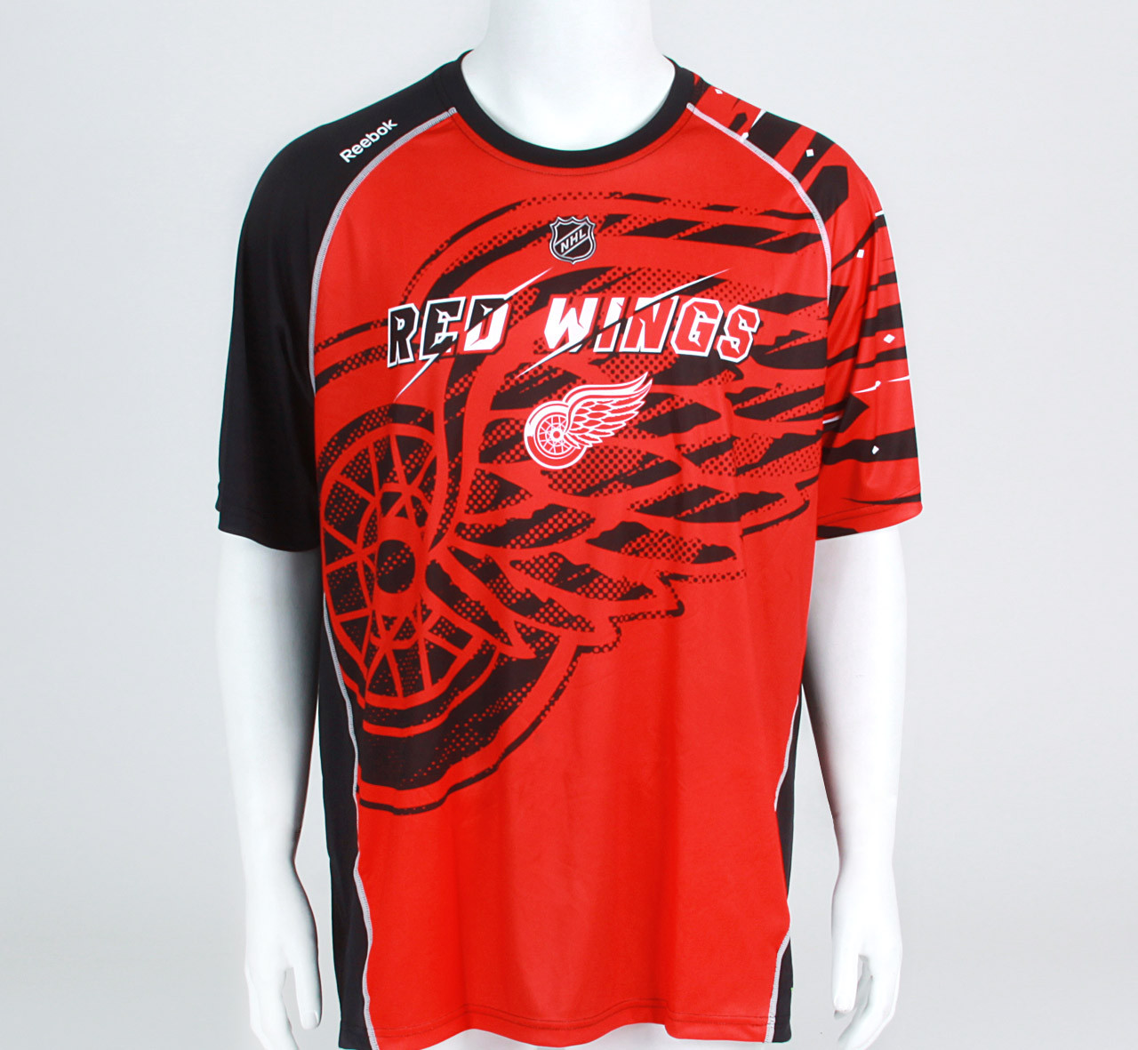 low priced 717ca 698b3 Detroit Red Wings Center Ice PlayDry Short Sleeve Shirt