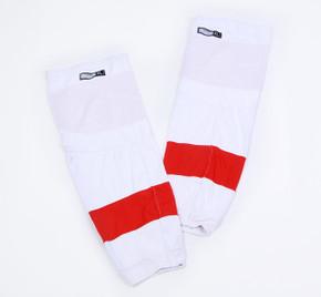 Game Sock - Detroit Red Wings - White Reebok Size XL #2