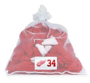 Detroit Red Wings White Laundry Bag - Petr Mrazek