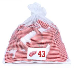 Detroit Red Wings White Laundry Bag - Darren Helm