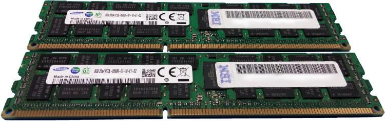2x4GB Memory DIMMs 1066 MHz IBM EM08 8GB 2Gb DDR3 DRAM