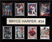 "MLB 12""x15"" Bryce Harper Washington Nationals 8-Card Plaque"