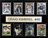 "MLB 12""x15"" Craig Kimbrel Atlanta Braves 8-Card Plaque"