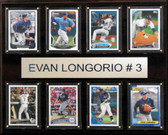 "MLB 12""x15"" Evan Longoria Tampa Bay Rays 8-Card Plaque"