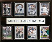 """MLB 12""""x15"""" Miguel Cabrera Detroit Tigers 8-Card Plaque"""