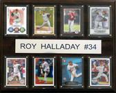 "MLB 12""x15"" Roy Halladay Philadelphia Phillies 8 Card Plaque"