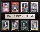 """MLB 12""""x15"""" Cal Ripken Jr. Baltimore Orioles 8-Card Plaque"""