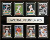 "MLB 12""x15"" Giancarlo Stanton Miami Marlins 8-Card Plaque"