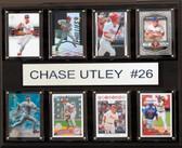 "MLB 12""x15"" Chase Utley Philadelphia Phillies 8-Card Plaque"