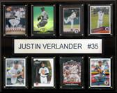 "MLB 12""x15"" Justin Verlander Detroit Tigers 8-Card Plaque"