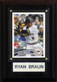 "MLB 4""x6"" Ryan Braun Milwaukee Brewers Player Plaque"