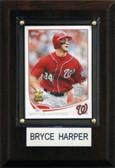 "MLB 4""x6"" Bryce Harper Washington Nationals Player Plaque"