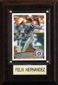 "MLB 4""x6"" Felix Hernandez Seattle Mariners Player Plaque"