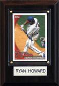 "MLB 4""x6"" Ryan Howard Philadelphia Phillies Player Plaque"