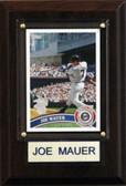 "MLB 4""x6"" Joe Mauer Minnesota Twins Player Plaque"